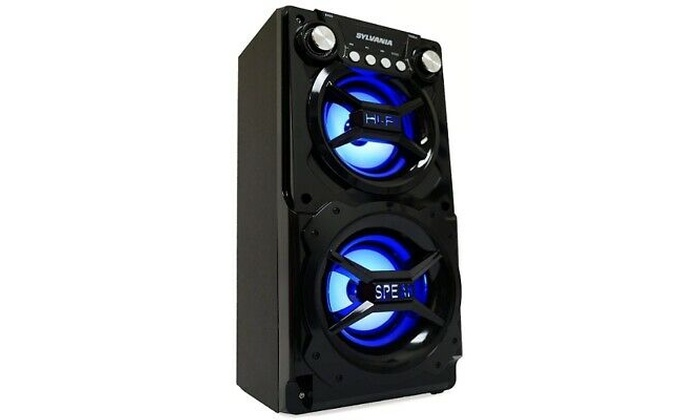 Party Speaker System Bluetooth Big Led Portable Stereo Light Up Tailgate Loud 4,