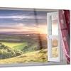 Window View Landscape Contemporary Metal Wall Art 28x12