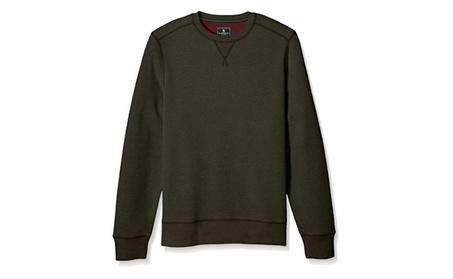 G.H. Bass & Co. Men's Mountain Wash Fleece Crew Long Sleeve Sweatshirt f8e10a1a-88e6-4555-8ba7-afc4a6906de0