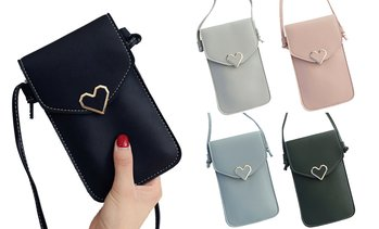 Women Cross Body Touch Screen Cell Phone Pouch Case Shoulder Wallet Bag