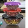10 Piece Glass Food Storage Set With Snap Lids