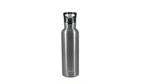 Double Wall Stainless Steel 17oz Sports Bottle w/ Flip Straw c29da901-c2d8-4bf5-ad55-265c9cdbd506