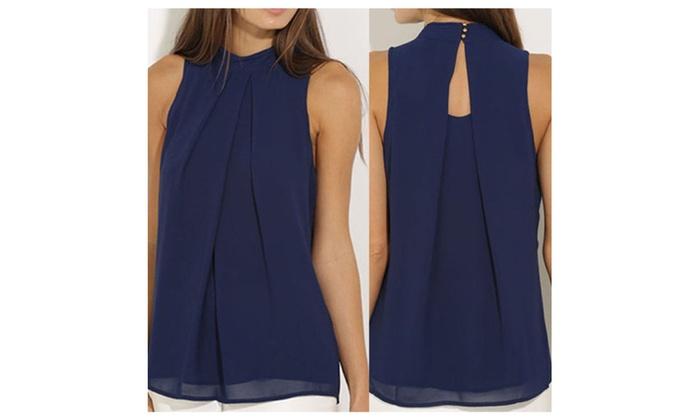 Vest Top Sleeveless Shirt Blouse