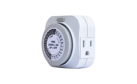 24 Hour Daily Mechanical Outlet Light Timer Automatic Hydroponics photo