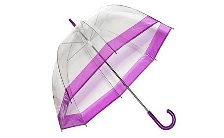 Elite Rain Frankford RB01-PRP Clear Bubble Umbrella, Purple Trim 02032d16-66b9-42f9-9c38-c6b7ec6862f6