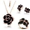 Fashion Rose Flower Enamel Women's Jewelry Set