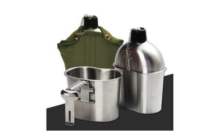 Belted Stainless Steel Outdoor Camp Kitchen Utensils Set 17152091-f11b-46c7-8b81-29fdde77d429