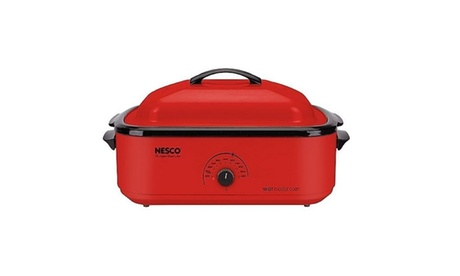 Nesco 4818-12 18-Quart Roaster Oven With Porcelain Cookwell - Red photo