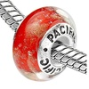 Sterling Silver 'One of a Kind' Murano Style Glass Bead