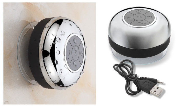 interlink products hotelspa chrome ipx4 waterproof bluetooth shower speaker