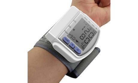 LCD Digital Automatic Wrist Cuff Blood Pressure Monitor