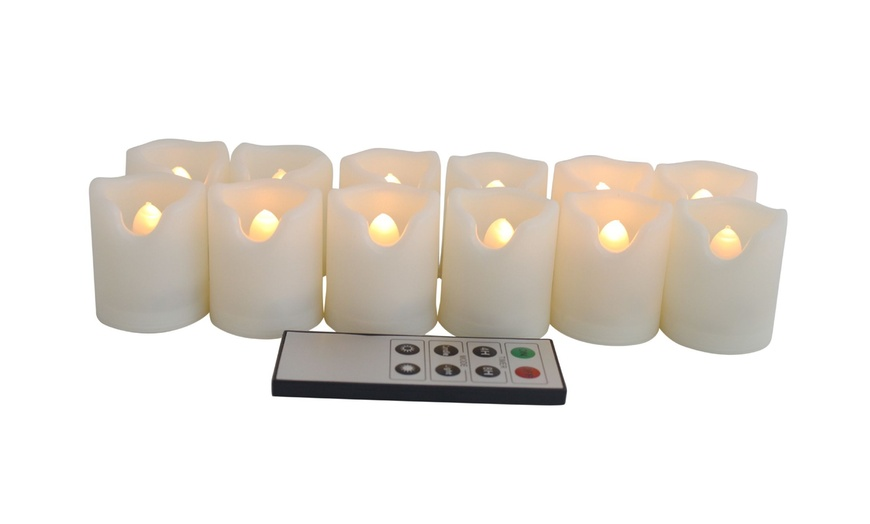 Ecogecko 12 Pc Indoor Outdoor Flameless, Outdoor Flameless Candles With Remote