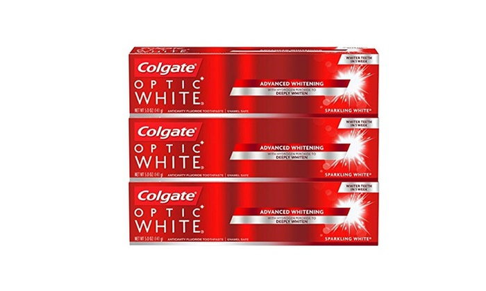 Up To 30 Off On Colgate Optic White Whitenin Groupon Goods