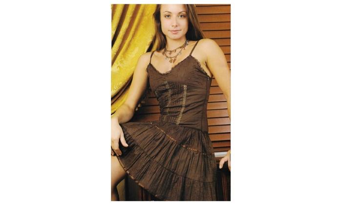 Junior Women's Cotton sun dress