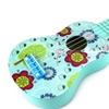 Velocity Toys Graphic Ukulele 4 Stringed Toy Guitar Lute (Light Blue)