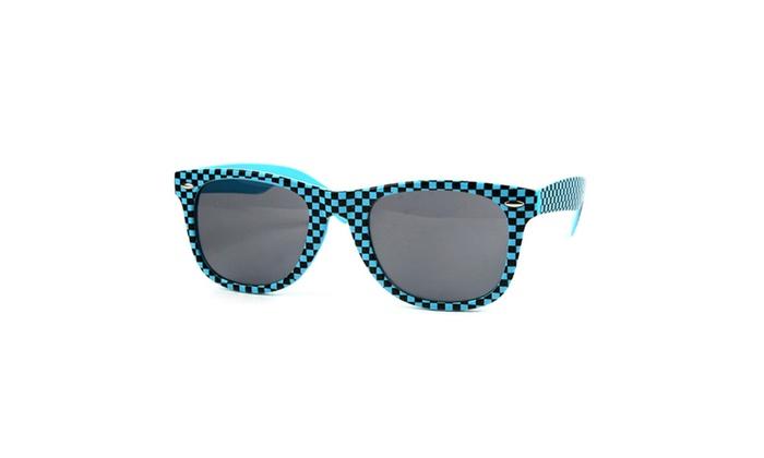 Classic Wayfarer Checker Sunglasses T712