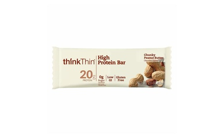 High Protein Bars, Chunky Peanut Butter, 2.1 oz Bar (10 Count)