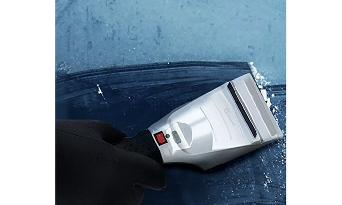 Premium Quality 12 Volt Heated Ice//Snow Scraper for Melting Ice and Snow Quickly! Zone Tech Heated Car Winter Windshield Electric Snow and Non-Scratch Ice Scraper
