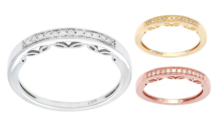 10k Gold 1/6ct Vintage Style Diamond Wedding Band (G-H, I1-I2)