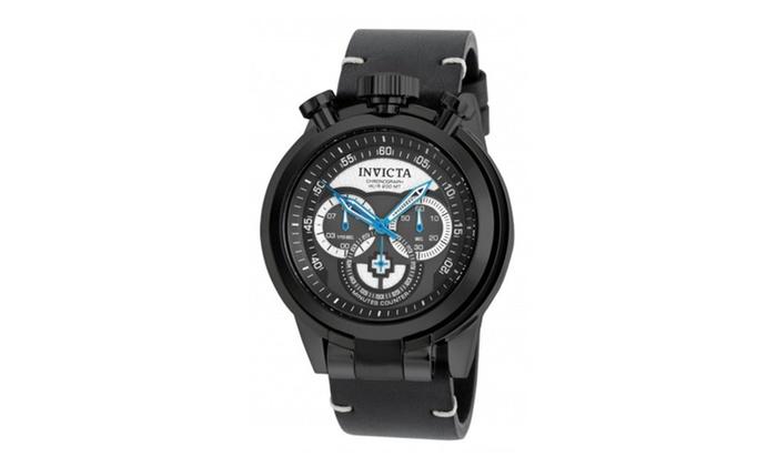 Allurez com: Invicta 18771 Quartz Multifunction Black Gunmetal Dial Mens Watch