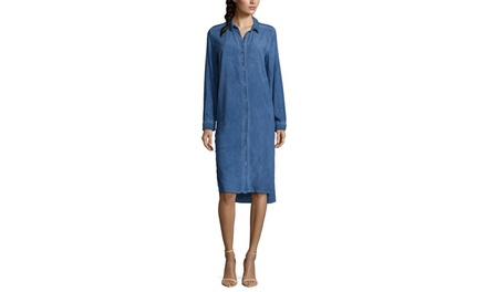 DO  BE Long Sleeve Denim Shirtdress