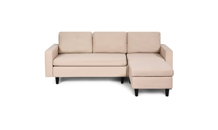 Convertible Sectional Sofa Couch Fabric L-Shaped Couch w/Reversible Chaise