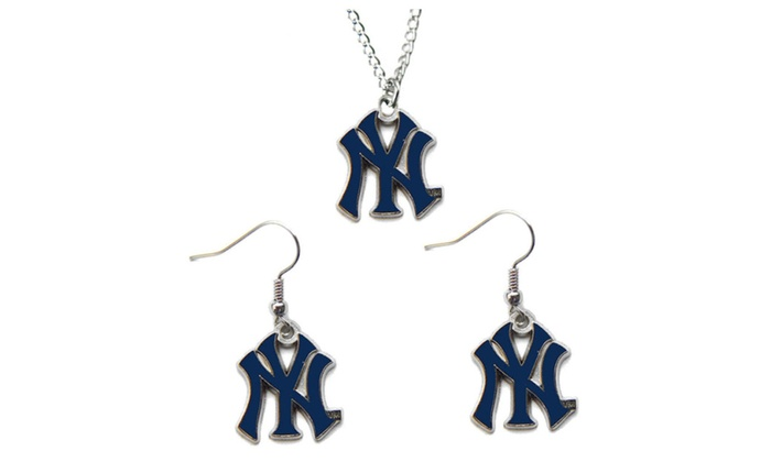 MLB Necklace and Earring Set