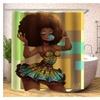 Bathroom Shower Curtain Waterproof Fabric Hip Hop Girl Bathroom Decor