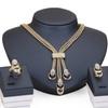 Crystal Imitation Beads Necklace Earrings Women's Bracelet Ring Set