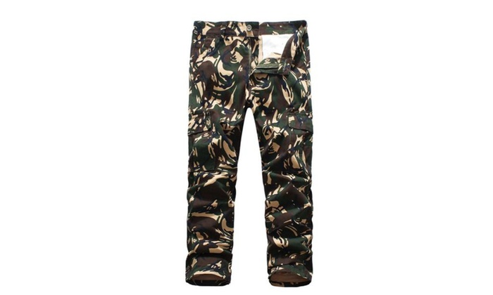 Men's Mid Rise Printed Straight Casual Pants