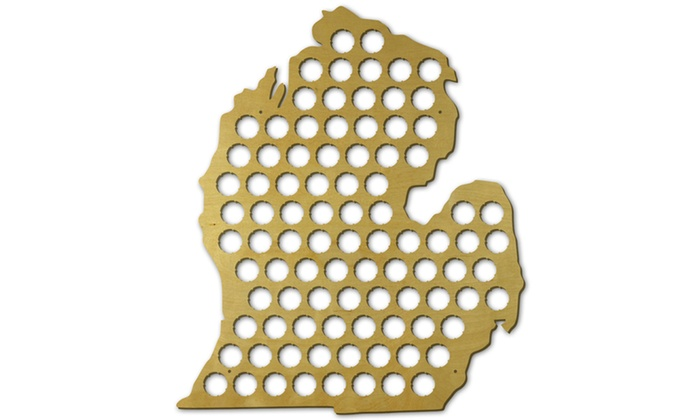 Up To Off On Beer Cap State Maps Groupon Goods - Indiana beer cap map