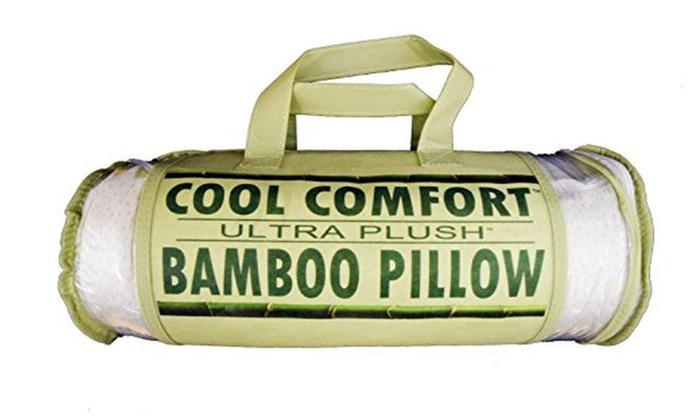 Cool Comfort Bamboo Covered Memory Foam Pillow Queen Groupon