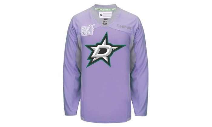 finest selection 5b5bd fbb6a Mens Dallas Stars Hockey Fights Cancer Practice Mens Jersey