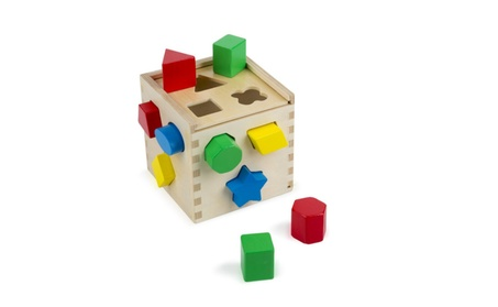 Shape Sorting Cube - Classic Wooden Toy With 12 Shapes 619660b7-d8e5-499a-b4fb-86ed0ee22845