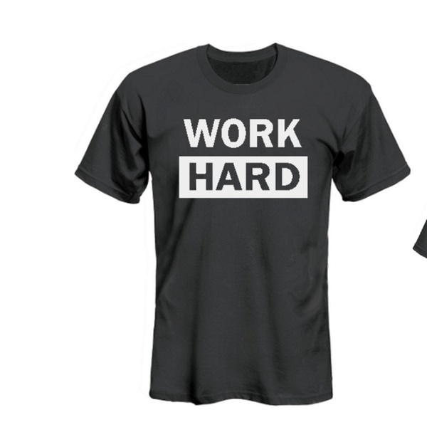 e7d7176e5eb1c Funny Matching Father Son Tshirt for Father's Day Gift - Work Hard Play Hard