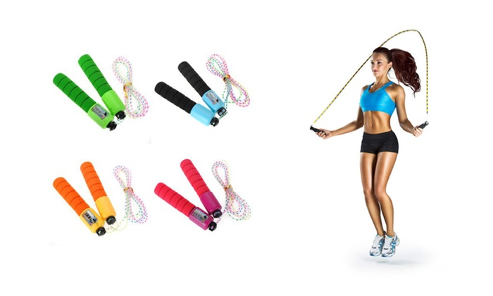Colorful Fitness Tracking Jump Rope 4 Colors