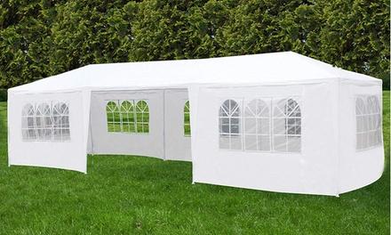 10'x30' Heavy Duty Gazebo Pavilion Party Wedding Canopy Tent w/7 Sides