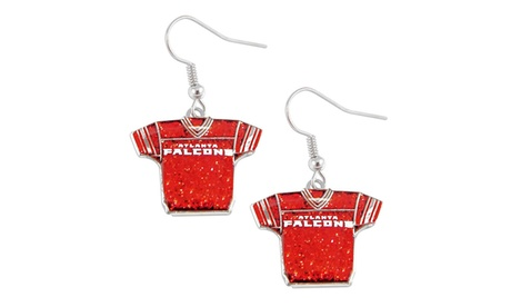 NFL Sports Team Jersey Dangle Glitter Earring Set caef6852-0bdd-46cd-8f5d-a7ab30295732
