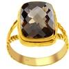 Orchid Jewelry 0.925 Silver 5 carat Briolette Cut Smoky Quartz Ring