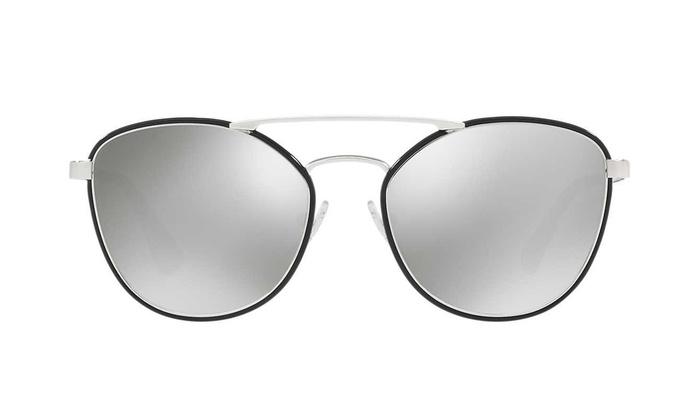 21a4c871a4d0d Prada PR63TS Sunglasses (Black Light Gray Mirror)