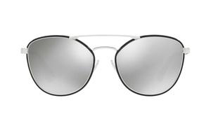 Prada PR63TS Sunglasses (Black/Light Gray Mirror)