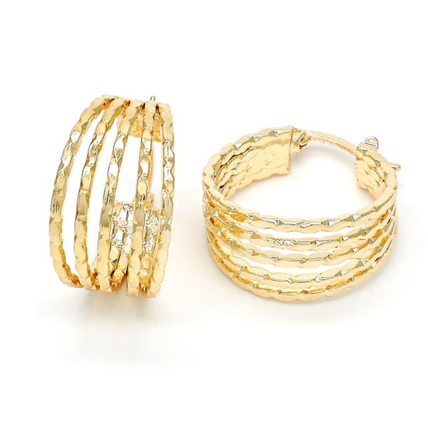 Extraordinary Hoop Earring Design Circle Gold Plated By Folks Jewelry