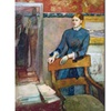 Edgar Degas 'Helene Routart in Her Father's Study' Canvas Art