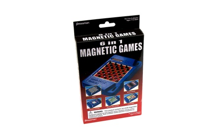 6-in-1 Travel Magnetic Games 09026dc2-25a5-4775-9c6e-584980a77dbb