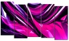 Groupon Goods: Pink & Purple Ribbons - Contemporary Wall Art - 60x32 - 5 Panels