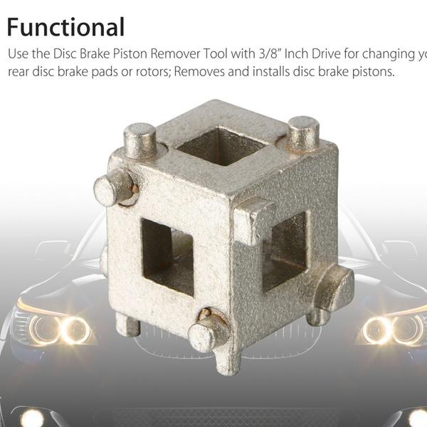 "Car Vehicle Rear 3//8/"" Durable Disc Brake Piston Caliper Wind Back Cube Tool Kit"