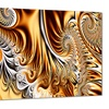 Gold & Silver Ribbons - Large Abstract Canvas Art Print