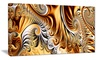 Groupon Goods: Gold & Silver Ribbons - Large Abstract Canvas Art Print