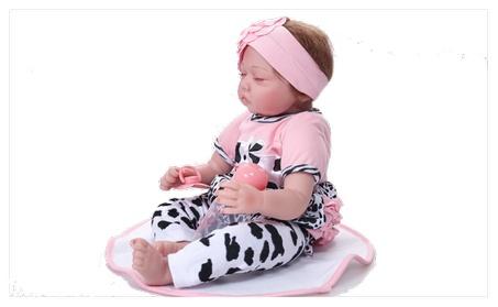 "22"" Reborn Baby Doll Full Body Silicone Vinyl Handmade Sleeping Girl 12475e8a-7822-41a2-9f7d-4691c0412351"