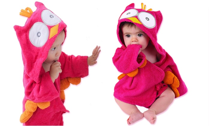 animal hooded baby bath robes groupon. Black Bedroom Furniture Sets. Home Design Ideas